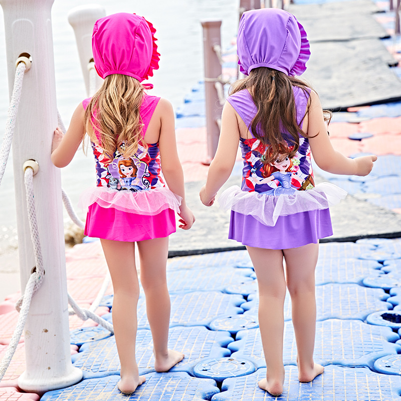 Child Swimwear Girl Swimsuit For Children Junior Girls Bathing Suits 2018 New Beach By Surfing Baby 5823 Animal Polyester Sierra