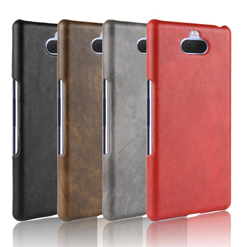For <font><b>Sony</b></font> Xperia 10 <font><b>Case</b></font> <font><b>Sony</b></font> 10PLUS Hard PC Leather Phone <font><b>Case</b></font> For <font><b>Sony</b></font> <font><b>Xperia10</b></font> 10 10Plus Cover <font><b>Case</b></font> image