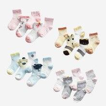 5 Pairs/lot Baby Girl Cartoon Socks Newborn Toddler Swan Cotton Sock Cute Infant