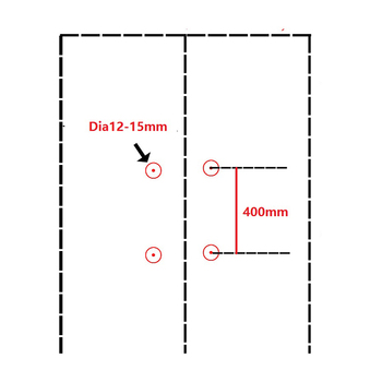Maniglioni Di Vetro | CC = 400 MILLIMETRI Moderna Piazza Glass Door Handle Pull Commerciale Entrata Residenziale