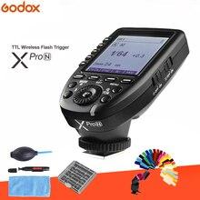 Godox Xpro N i ttl II 2,4G disparador inalámbrico de alta velocidad sincronización 1/8000 s X sistema con transmisor de pantalla LCD para Nikon DSLR