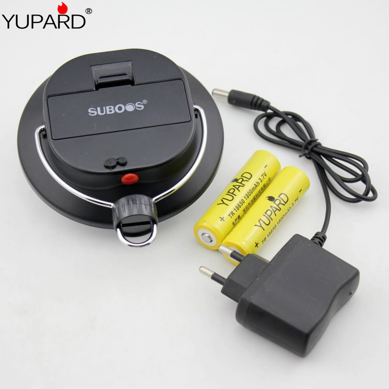 YUPARD 60 LED Camping portable lantern outdoor sport fishing + 2*18650 1800mAh rechargeable Battery +Powe charger