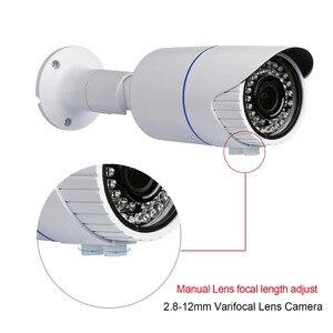 "Image 2 - Techage H.265 4.0MP HD אבטחת POE IP מצלמה חיצוני IR מקורה Onvif P2P Varifocal עדשת זום 2.8 12 מ""מ מצלמת מעקב טלוויזיה במעגל סגור"