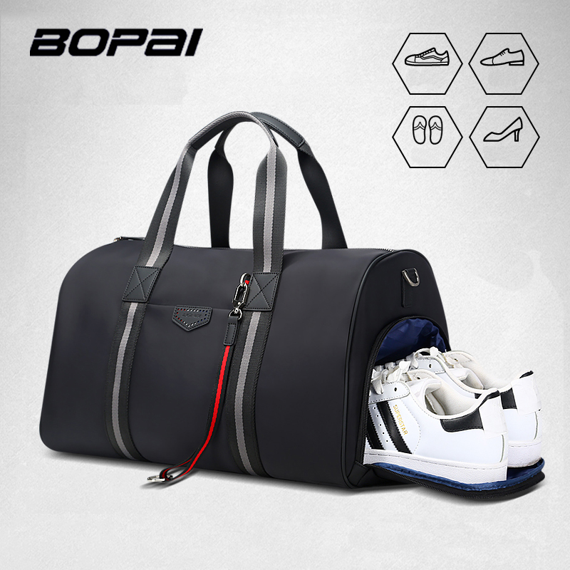 BOPAI Travel Bag Large Capacity Multifunctional Hand Bag Waterproof with Shoes Bag High Quality Shoulder Crossbody Travel Bags
