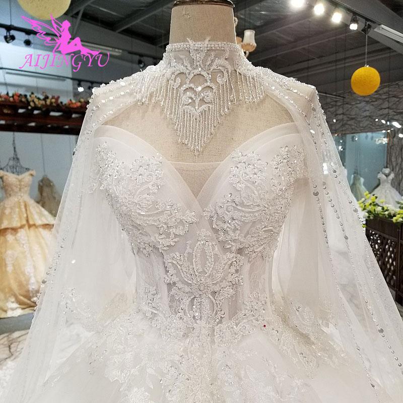 AIJINGYU Vintage Short Wedding Dresses Nova Gowns Bridal Design Korean 2019 Styles Long White Gown Wedding Dress Designers
