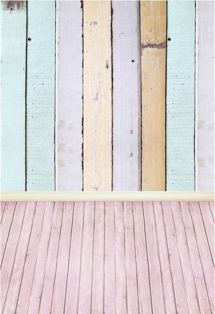 Houten Planken Voor Muur.Us 15 2 15 Off 5x10ft Vintage Kleurrijke Houten Planken Muur Roze Perzik Hout Floor Custom Fotografie Achtergronden Studio Achtergrond Vinyl 1 5x3 M