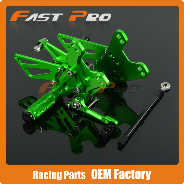 цена на CNC Motorcycle Adjustable Billet Foot Pegs Pedals Rest For KAWASAKI ZX10R ZX-10R ZX 10R 2011 2012 2013 2014 2015