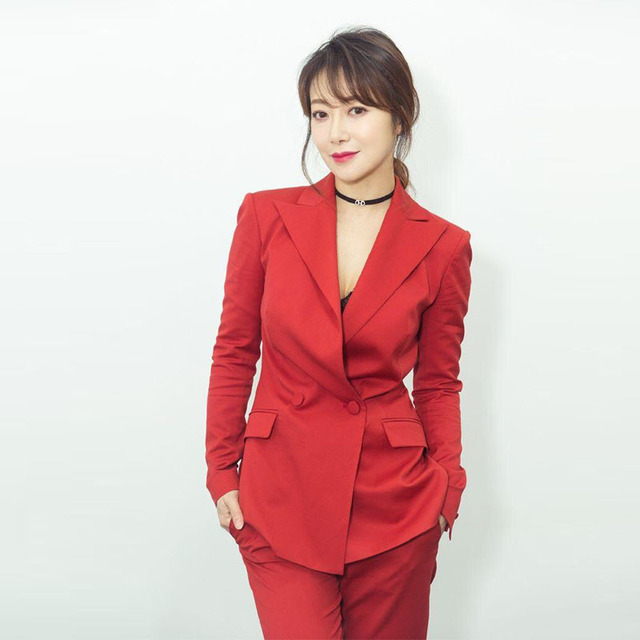 Autumn New Chenzihanmingxing with The Same Red Small Suit Thin Temperament OL Suit Girl New Women Fashion OL Commuter