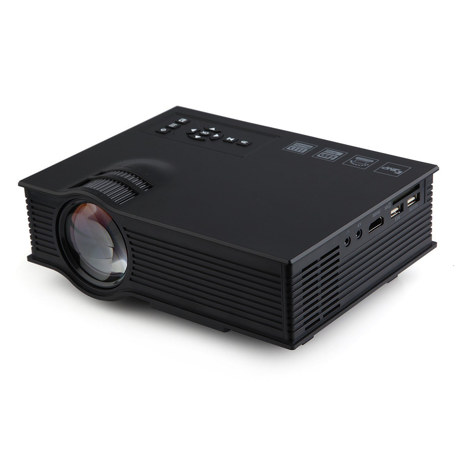 "800 Lumens Home Theater Mini Portable Led Multimedia: Original UC40+ Plus 800 Lumens Full Color 130"" Image Pro"