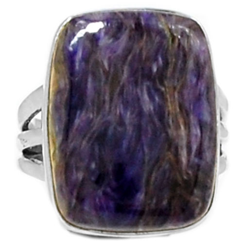 Hand Made Cherolite Ring 100% 925 Sterling Silver Size: 6.75, AR0404