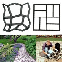 Garden Path Maker Mold Irregular Model Concrete Stepping Stone Cement Mould Brick DIY Home Garden Tools cement garden