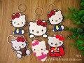 ENVÍO libre de fedex 100 unids/lote 2016 de Dibujos Animados Hello Kitty Encantadora Llaveros Llaveros para Las Niñas de La Escuela Regalos