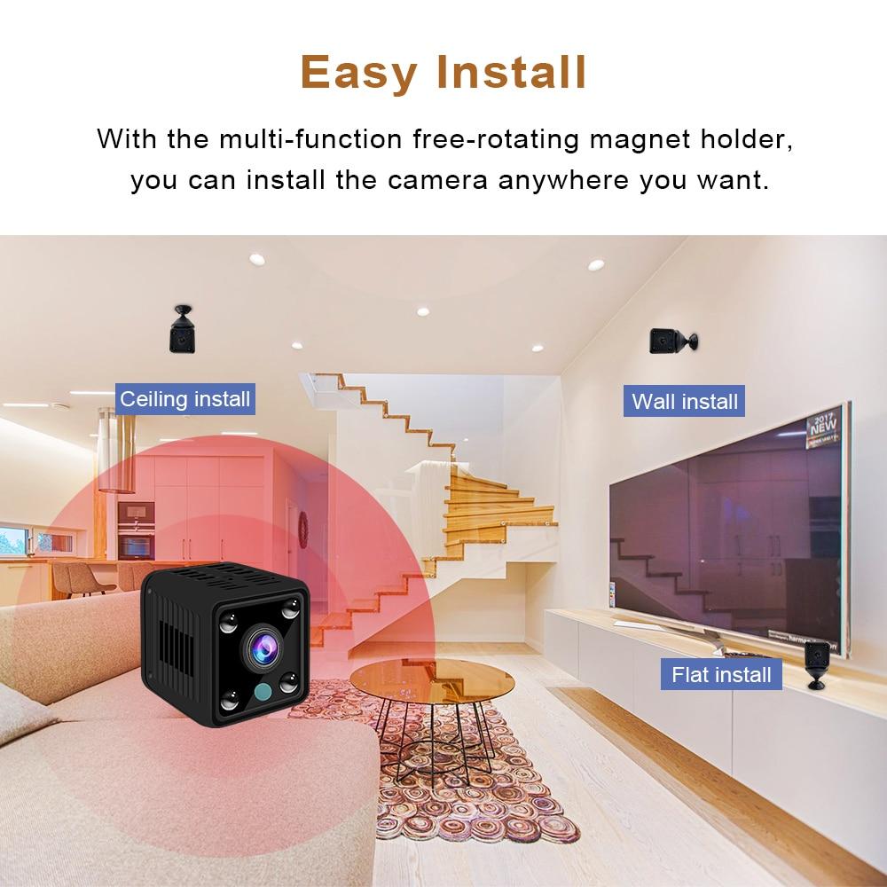 Mini Camera HD Camcorder IP Camera 1080P Sensor Night Vision WIFI Camera  Remote Monitor small Camera Wireless Surveillance Cam-in Mini Camcorders  from