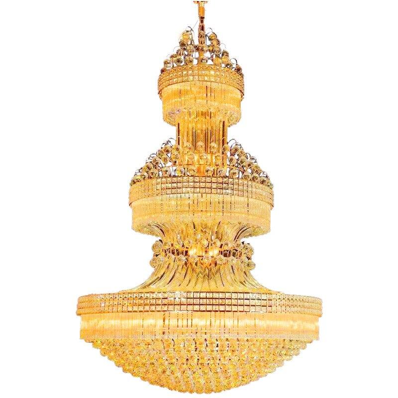La haute qualité pendentif lumière cristal lampe à LED Dimmable télécommande luxueux 110 220 V haute qualité pendentif K9 cristal lumière