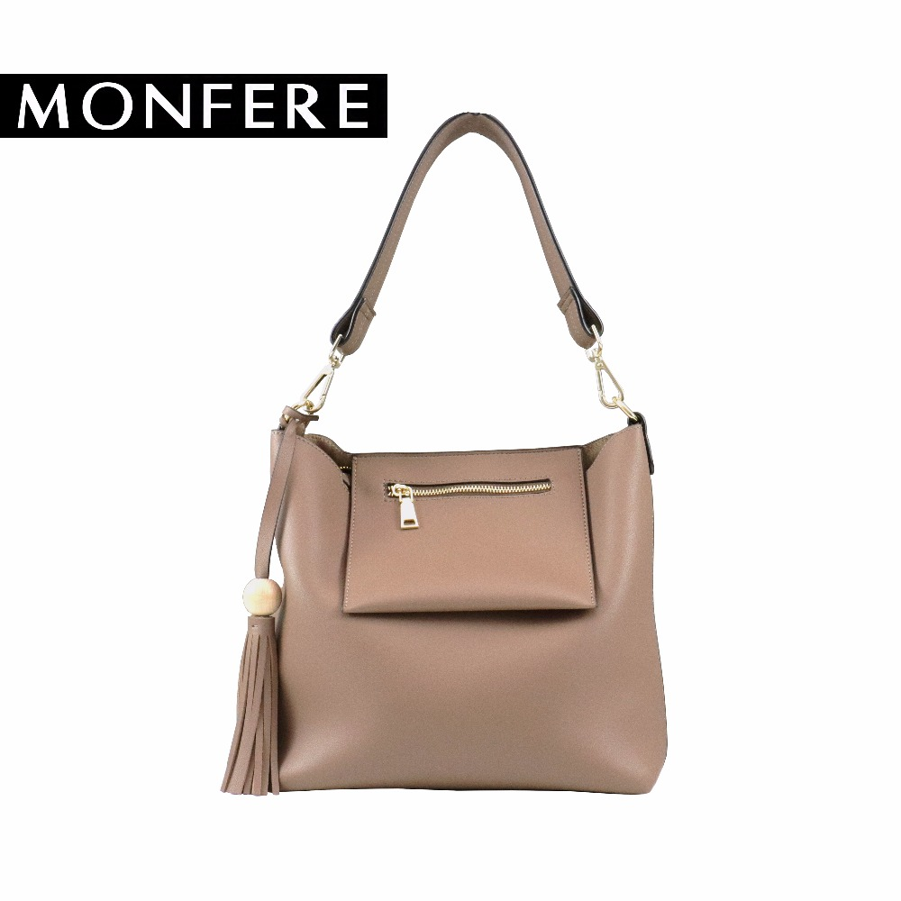 MONFER casual hobo women pu leather solid shoulder bags female flap crossbody bag set tassel strap handbag high quality designer women messenger bag solid tassel vintage handbag pu leather for teenage girls shoulder crossbody bags black female 2017 xa1125h