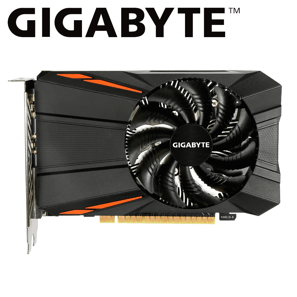 Gigabyte graphic card <font><b>gtx</b></font> <font><b>1050ti</b></font> from NVIDIA <font><b>GeForce</b></font> gigabyte <font><b>gtx</b></font> 1050 <font><b>1050ti</b></font> GDDR5 <font><b>4GB</b></font> video cards for pc gamer used card image