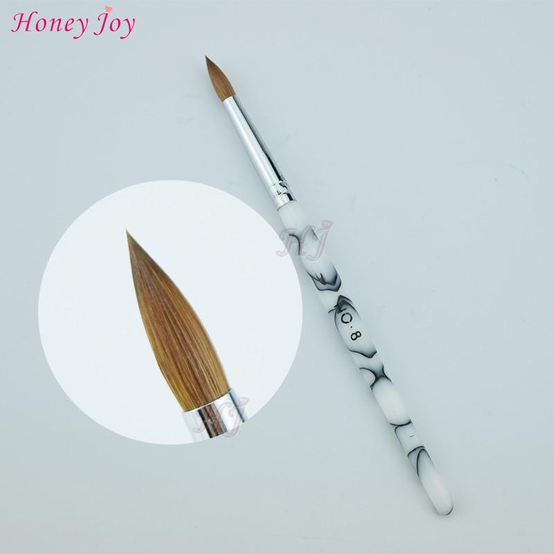 tamanho no 4 8 prined kolinsky sable acrilico nail art escova construtor gel uv carving pen