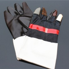 цена на 1 Pair Welding Insulated Welders Work Soft Cowhide Leather Plus Gloves Electric Welding Leather Household Gloves