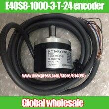 1ชิ้นE40S8 1000 3 T 24 encoderแสงหมุน/1000จุด/Rเข้ารหัสสำหรับAutonics/1000สายการเข้ารหัส24โวลต์