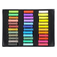 Free Shipping 36 Colors Non Toxic Temporary Pastel Hair Square Hair Dye Color Chalk HS11