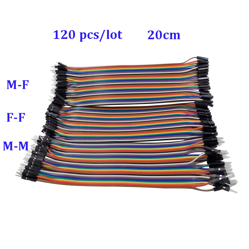 Raspberry Pi 3 Dupont Line 120pcs 20cm Male to Male +Male to Female +Female to Female 1p-1p Jumper Wire  For Orange Pi PC/Plus h060 40pcs dupont jumper wire cable 20cm male to male female to female male to female dupont jump wire line 2 54mm breadboard