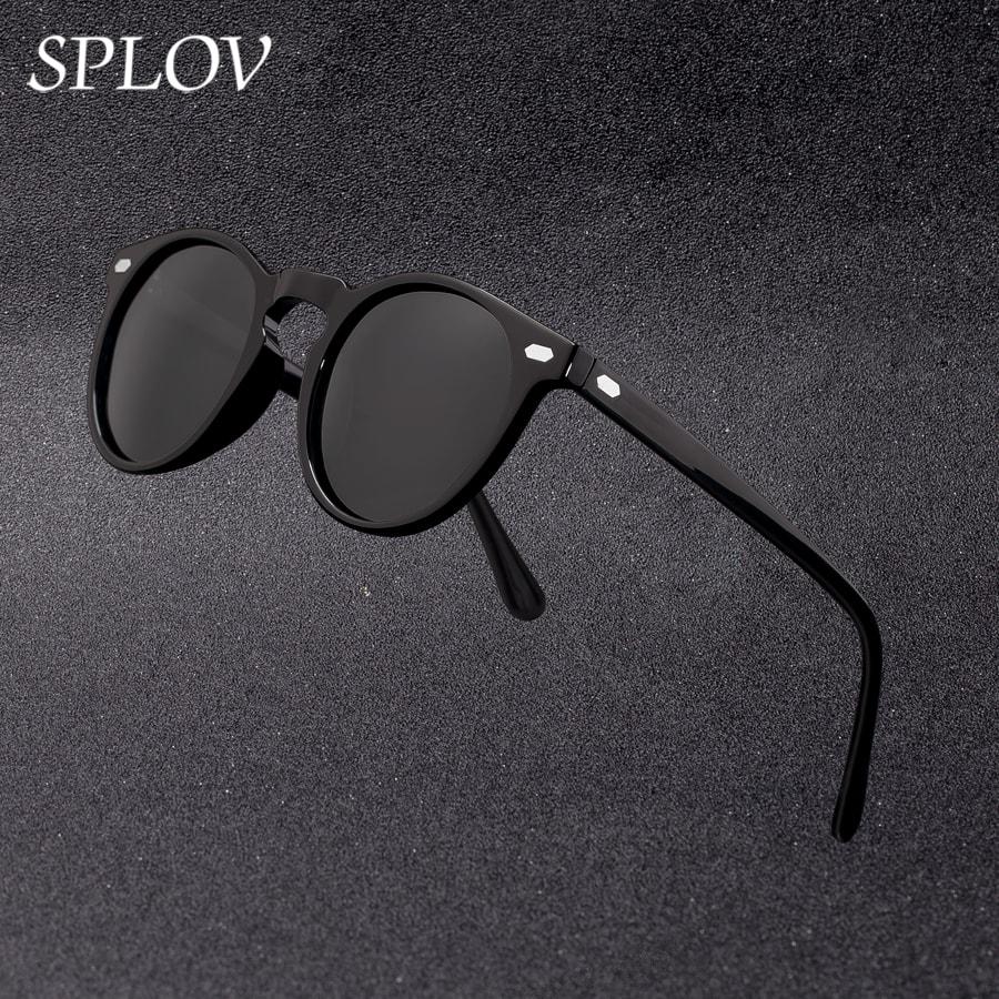 2019 New Fashion Men Polarized Sunglasses Women Round TAC Lens TR90 Frame Brand Designer Driving Sun Glasses Oculos De Sol UV400