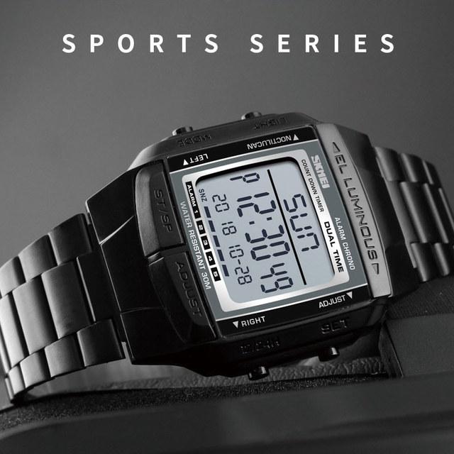 SKMEI Luxury Sport Watch Men's Watch Digital 5 Alarm Countdown Wrist Watches Top Clock Fashion Outdoor relogio masculino 1381