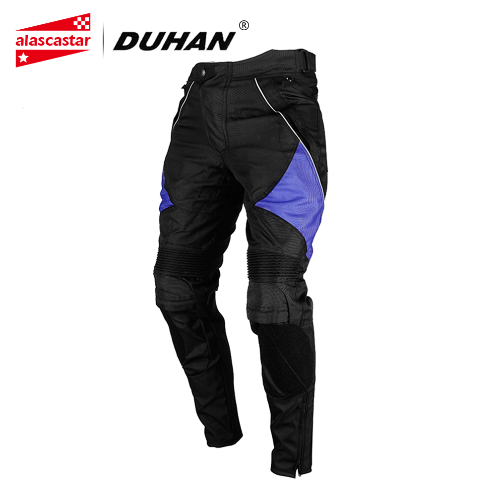 DUHAN Motorcycle Pants Windproof Racing Pants Motorcycle Enduro Riding Trousers with Detachable Two Knee Protecter DK 06-in Trousers from Automobiles & Motorcycles    1