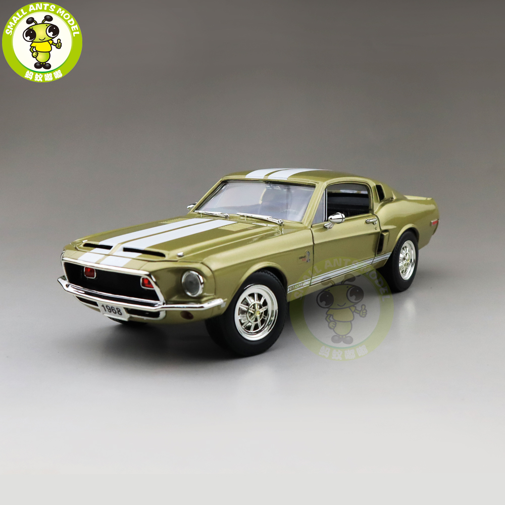 1/18 1968 Ford Shelby Mustang GT-500KR Road Signature Diecast Model Car Toys Boys Girls Gift
