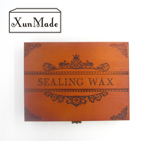 D New Stamp With Wooden Box Retro Sealing Wax Stamp With Handel Spoon Wax Stick White