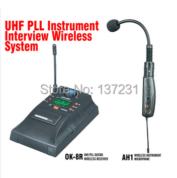 Violino Caldo Ah1 Mj-9 Professionale Uhf Pll Strumento Wireless Sistema Microfono Wireless Violino Audio Microfono Senza Fili Lussuoso Nel Design