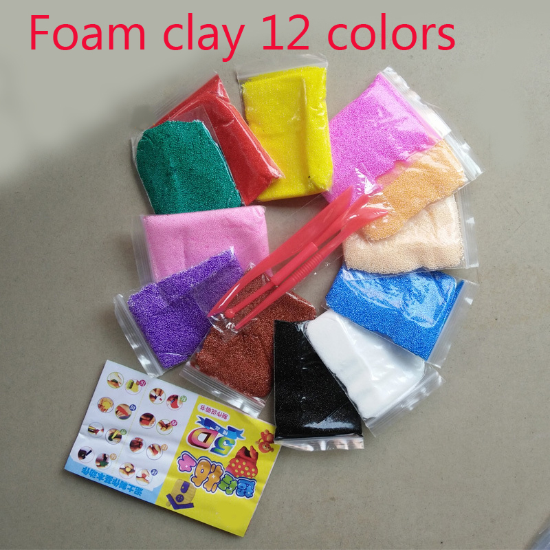 Fimo polymer clay 12 Colors Play foam Light Soft Colored Modeling Clay Model Magic Air Dry Plasticine Play Set Play Dough toy