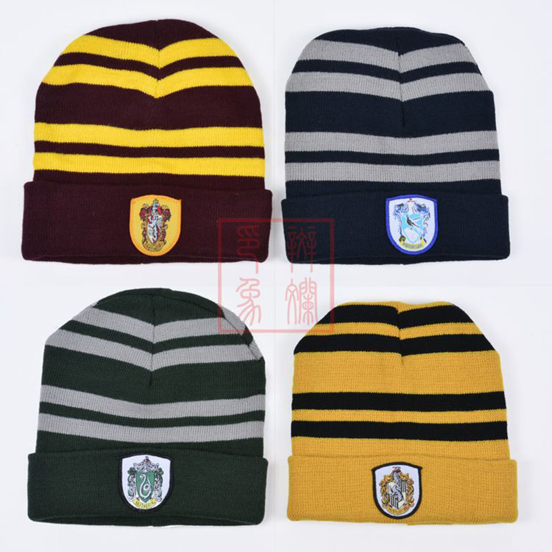 New Harry Potter Gryffindor Wool Cap Insignia Warm Soft Winter Hat Halloween Christmas Costume Anime Cosplay Gifts For Men Women
