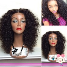 Synthetic curly lace front wig kinky curly wig for african american synthetic wigs high quality #1B