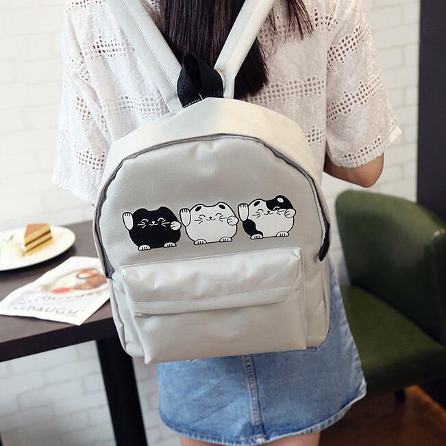 kawaii dos desenhos animados lucky Men Backpack : Travel Backpack