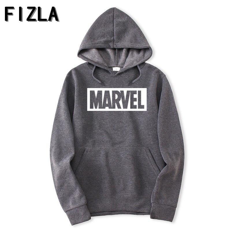 FIZLA New Brand Marvel Hoodies men high quality Long sleeves Casual men Sweatshirt Hoodies marvel print Hoodie Tracksuits male