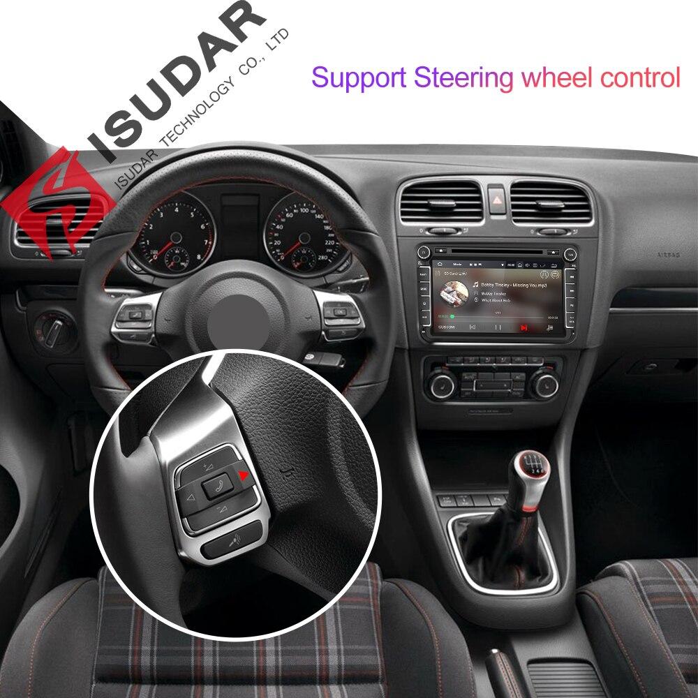 Isudar 2 Din reproductor Multimedia Android 8,1 Radio Auto para Skoda/Seat/Volkswagen/VW/Passat b7/POLO/GOLF 5 6 DVD GPS Quad-core - 4