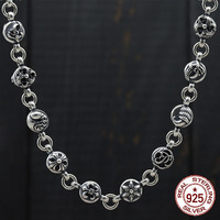 100% S925 sterling silver necklace personality retro domineering thick birthday sweater chain fashion couple gift 2019 new hot