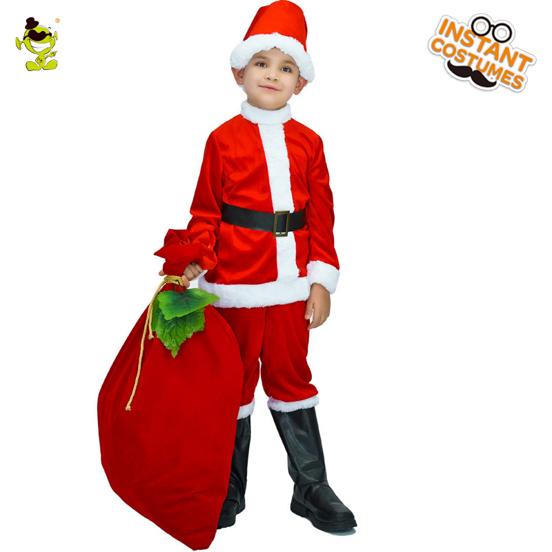Christmas Kid Santa Claus Costume Role Play New Child Merry Christmas Santa Claus Clothes Masquerade Christmas Party