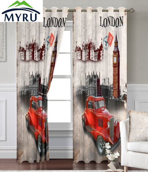 MYRU Anticorrosive Metal Grommet British Living Room Bedroom Curtains Uk  London Blackout Curtains 1.4mx2. Part 91
