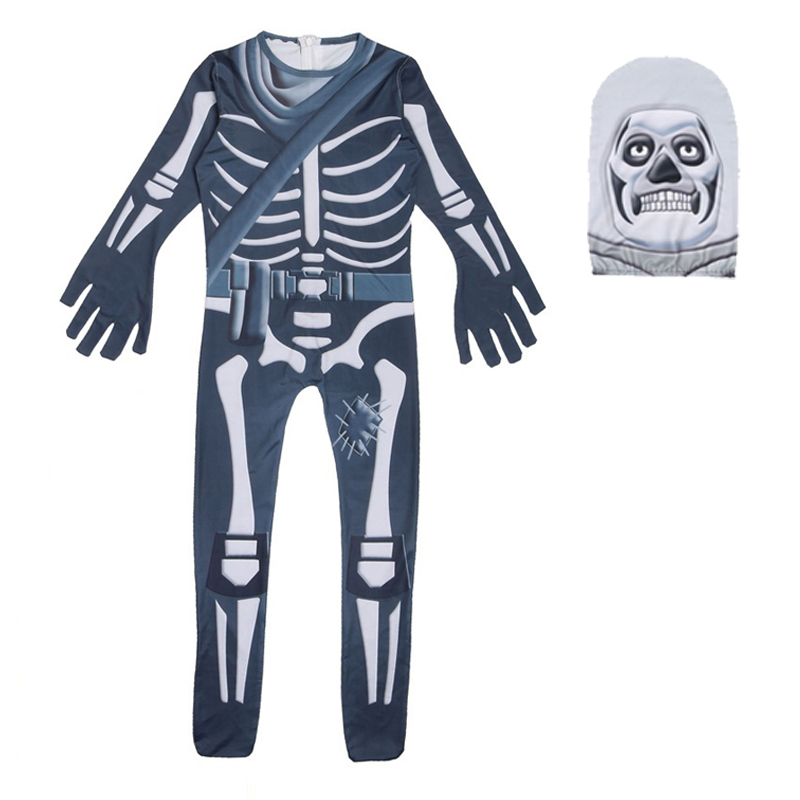 Newest Halloween Costume For Kids Roblox Skull Trooper Skeleton