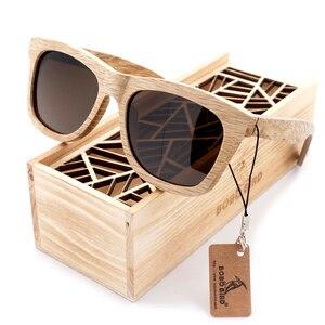 Image 3 - בובו ציפור עץ משקפי שמש מותג מעצב חום עץ משקפי שמש סגנון כיכר משקפי שמש Masculino Dropshipping OEM