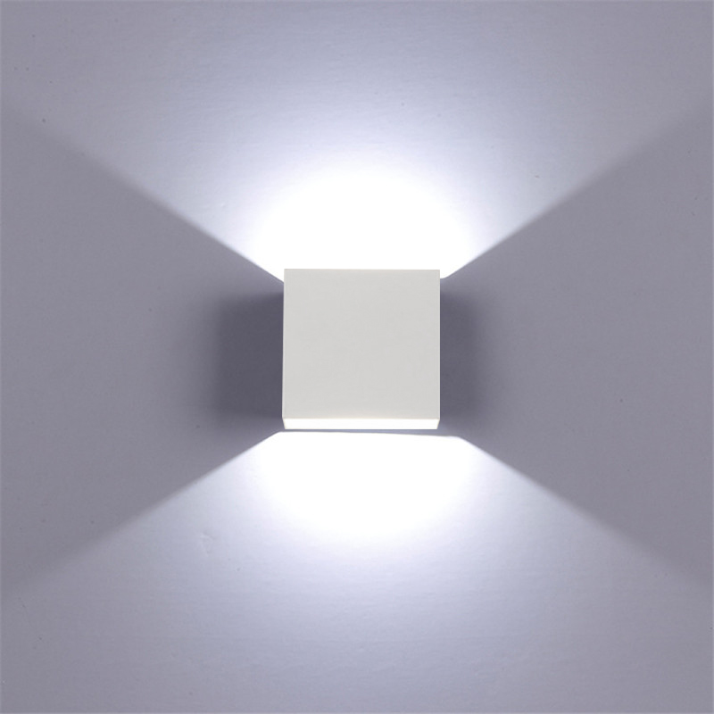 White Dimmable Square Light Rail with lights turned up.