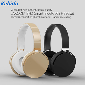 Kebidu 2018 JAKCOM BH2 Smart Bluetooth Headphones Wireless Active Noise Cancelling Stereo Headsets with Mic TF Card For phone