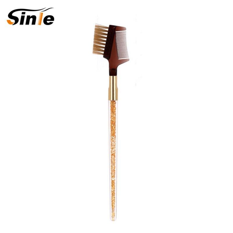Sinle 1 шт. двойной бровь Кисточки + гребень для бровей Красота косметический Макияж