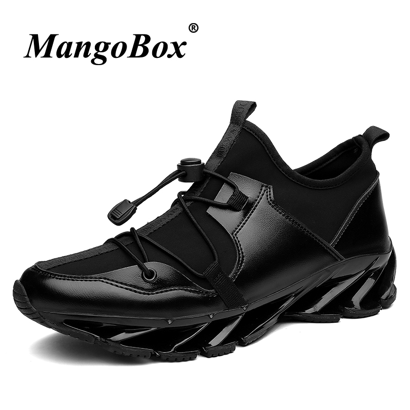 2018 Popular Black Running Shoes Men Trend Sports Shoes For Mens Breathable Jogging Sneakers Men Hard-Wearing Mens Gym Shoes