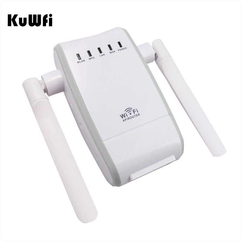 Image 5 - 300Mbps Mini Wireless Wifi Signal Booster Repeater with 2 RJ45 Port Dual Antenna With AP Repeater Router Client Bridge Modes-in Wireless Routers from Computer & Office