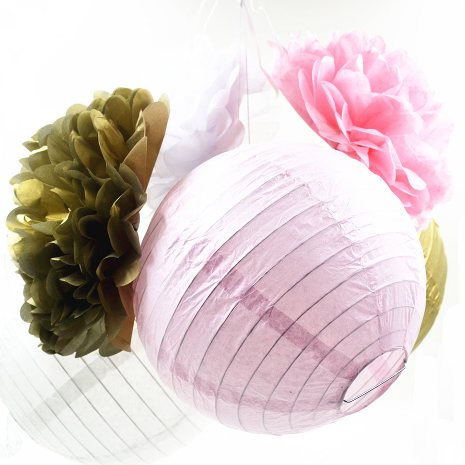 Tronzo 6pcs/lot Round Wedding Decoration Paper Lantern 8inch DIY ... for How To Make Round Tissue Paper Lanterns  1lp1fsj