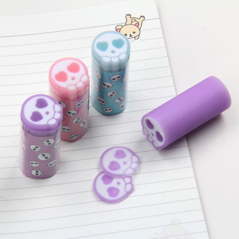 Cartoon Students Pencil Eraser Rubber Kawaii Stationery School Cutting Eraser Office Material Escolar Kids Gift Supplies