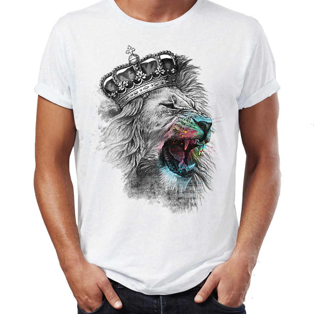 Nam Áo Sơ Mi T King Lion Vẽ Splatter Art Awesome của Tự Nhiên Tee